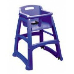 Sturdy High Chair Blue