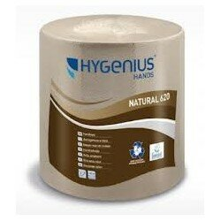 HYGENIUS ROLL TOWEL 2Ply NATURAL 155Mtr x 6