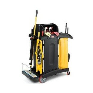 Secure Healthcare Cleaning Trolley Cart