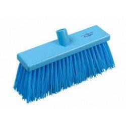 YARD BRUSH STIFF 300MM BLUE