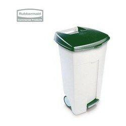 Eco Step-On Bin + Green Lid