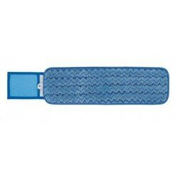 Microfibre Wet Mop 40cm Blue C/w Scrub
