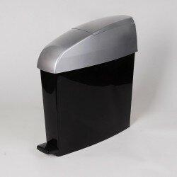Sanitary Waste Bin Satin/Black 12Ltr